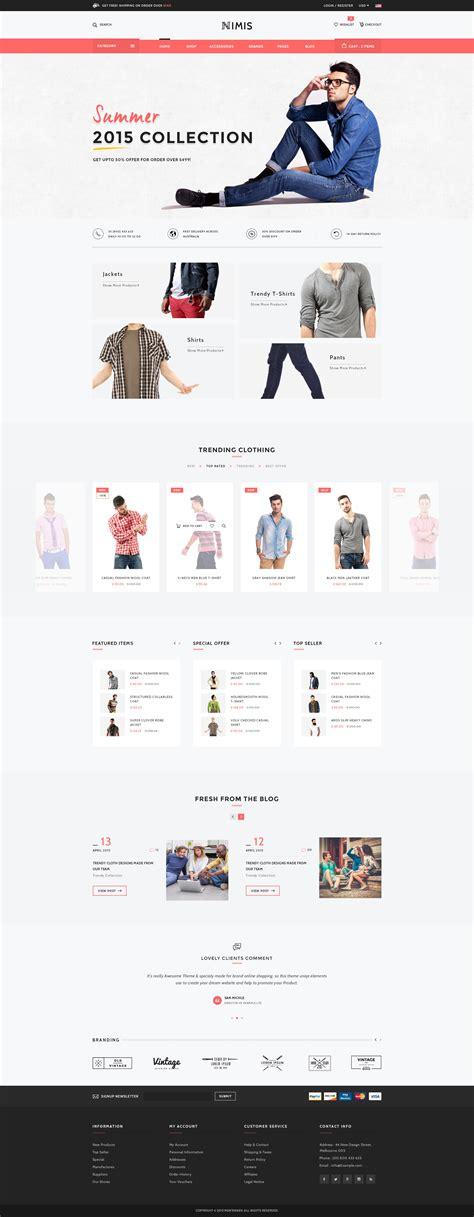 Nimis - eCommerce Shop HTML Template by WPmines | ThemeForest