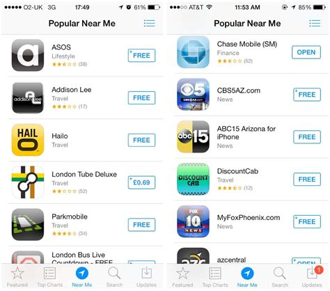'Near Me' Feature In iOS 7 App Store Working For More Beta