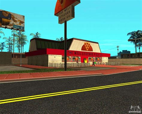 Buying pizza for GTA San Andreas
