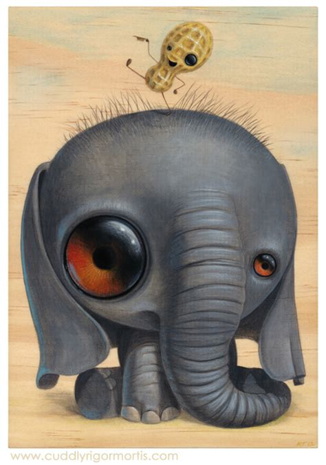 I'm Not Hungry, Cute Anthropomorphic Animal Paintings by