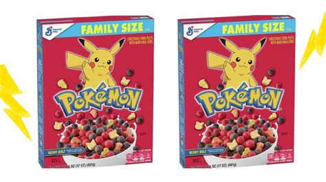Pokémon Berry Bolt Cereal With Pikachu Marshmallows Might