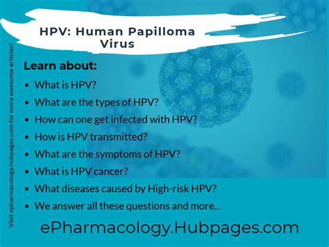 Hpv: Types, Infection, Symptoms, Cancer, Warts