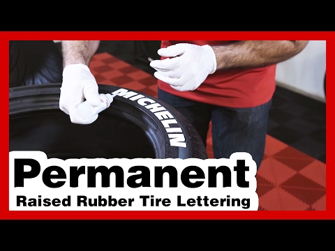 GOODYEAR - White Tire Letters - Tire Lettering Kit