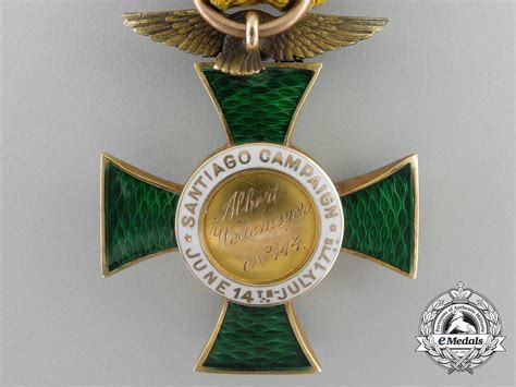 An American Gold Society of Army of Santiago Campaign