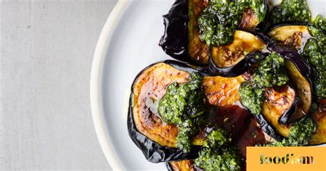 Bubala's fried aubergine with date syrup and zhoug