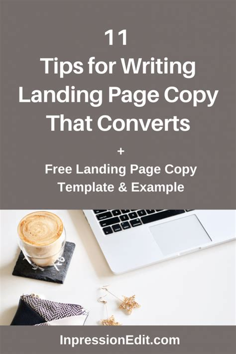 11 tips for writing landing page copy that converts + free