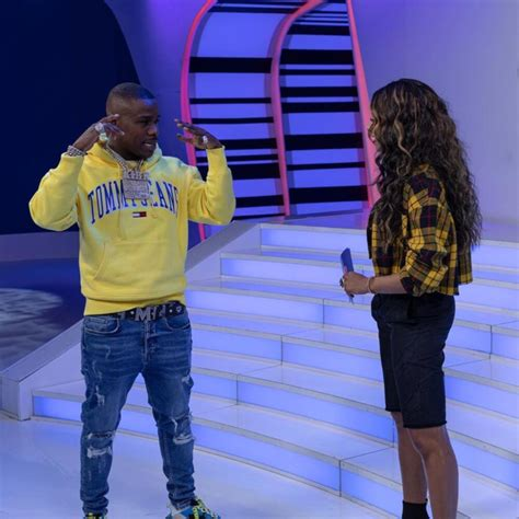 DaBaby on MTV In a Tommy Jeans Hoodie, MCM Belt, & Triple S's