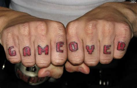 game over - Hate Or Love? The 10 Best Knuckle Tattoos