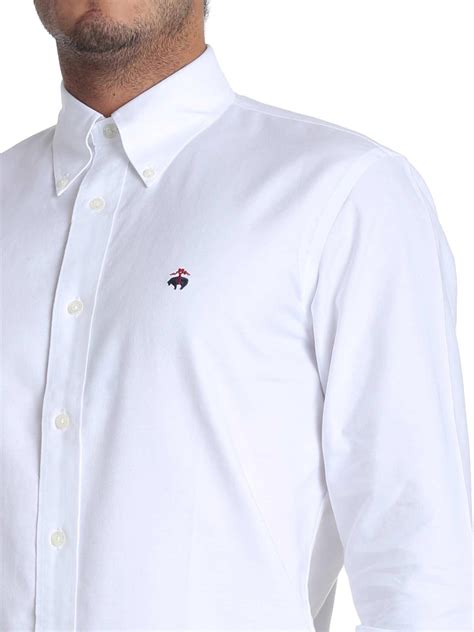 Brooks Brothers White Oxford Cotton Button Down Shirt for
