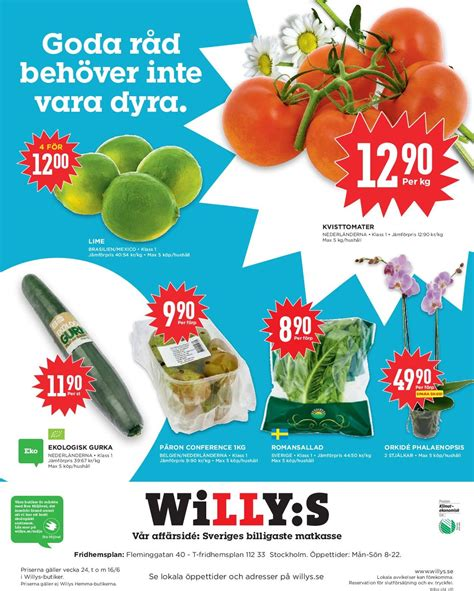 WiLLY:S Aktuell annons 10/06 - 16/06-2019 [10] - veckovis