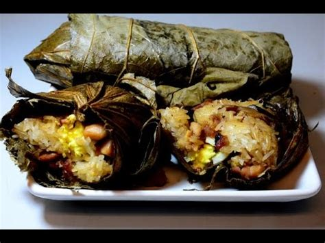 Dim Sum : Sticky Rice in Lotus Leaves - YouTube