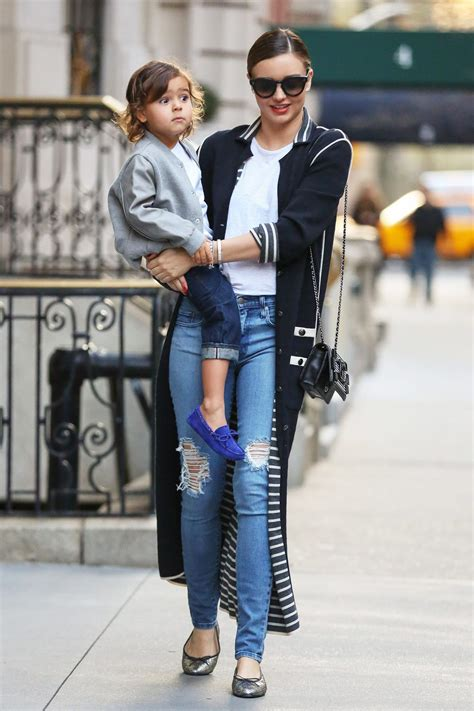 Miranda Kerr Style - Mother Child Outfits