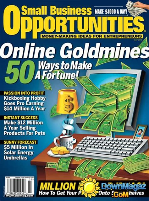 Small Business Opportunities - May 2016 » Download PDF