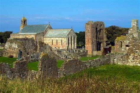 Lindisfarne Priory On The Holy Island Stock Photo - Image