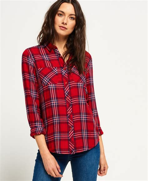 Superdry Midwest Dreaming Buffalo Check Shirt - Womens