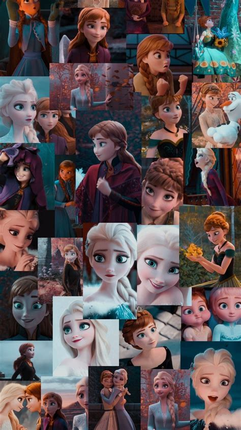 anna and elsa collage/aesthetic wallpaper in 2020