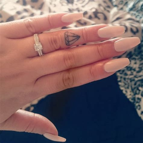 Shine Bright Like a Diamond   Finger Tattoo Pictures