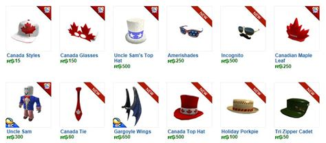 Unofficial Roblox: Rare Canada items out on Roblox